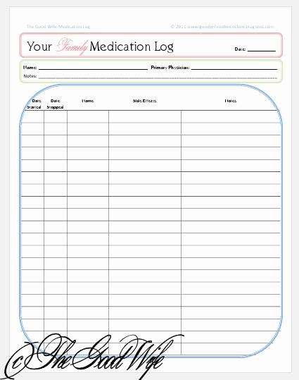 Free Printable Medication Log Template Lovely Download Injection Log Sheet