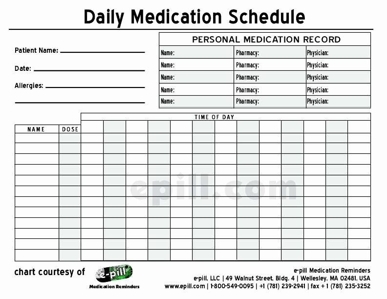 Free Printable Medication Log Template Luxury Free Daily Medication Schedule Free Daily Medication