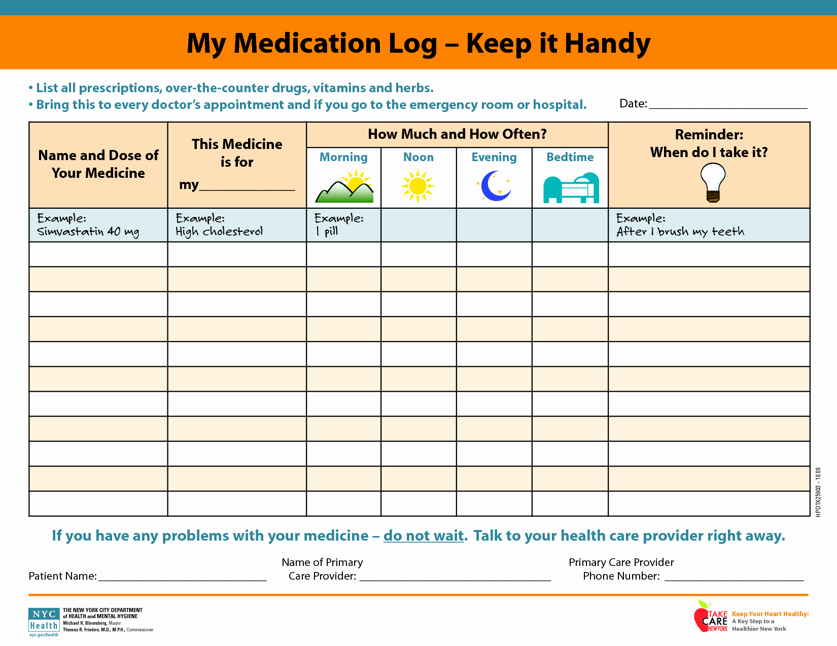 Free Printable Medication Log Template Luxury Medicine Picture Schedule