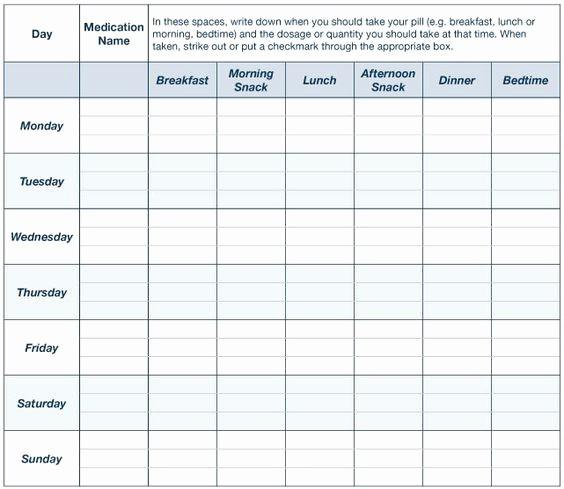 Free Printable Medication Log Template Unique Create A Medication Chart