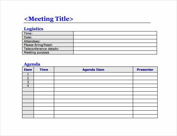 Free Printable Meeting Minutes Template Elegant 50 Meeting Agenda Templates Pdf Doc