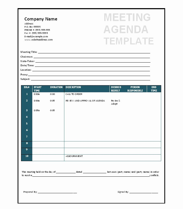 Free Printable Meeting Minutes Template Lovely 51 Effective Meeting Agenda Templates Free Template
