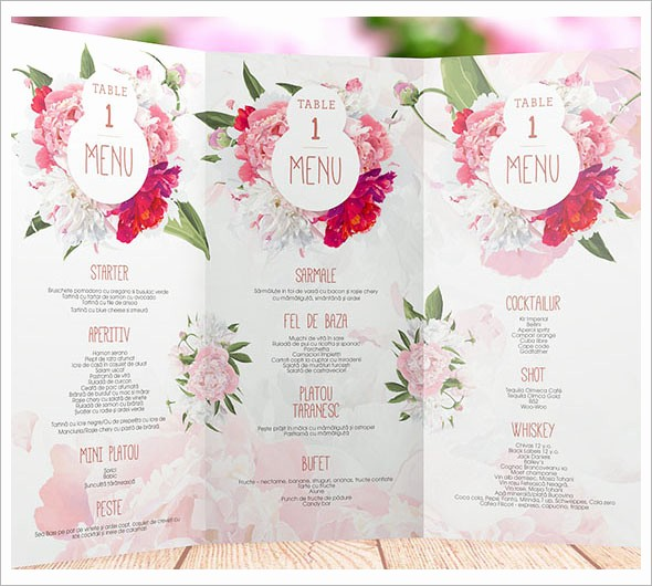 Free Printable Menu Card Templates Awesome 6 Best Of Wedding Buffet Menu Template Printable