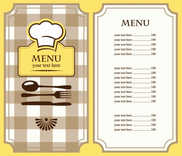 Free Printable Menu Card Templates Awesome Free Restaurant Menu Template