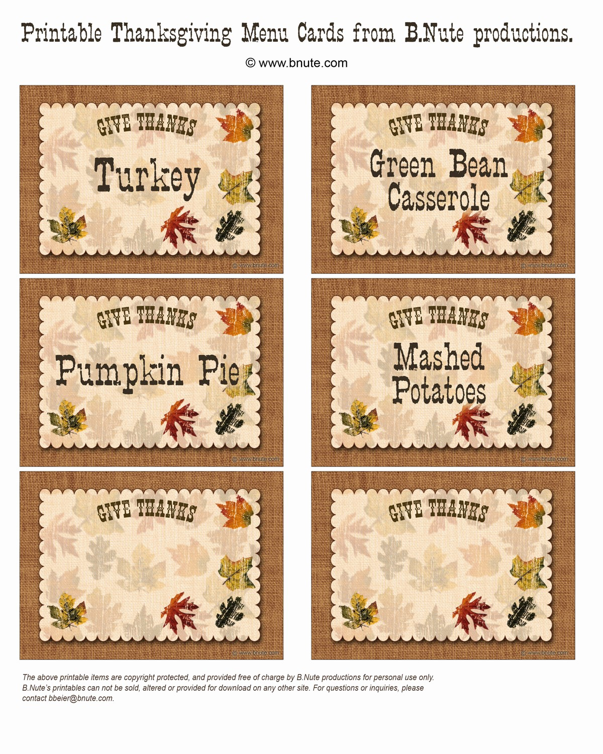 Free Printable Menu Card Templates Beautiful Bnute Productions Free Printable Give Thanks Thanksgiving