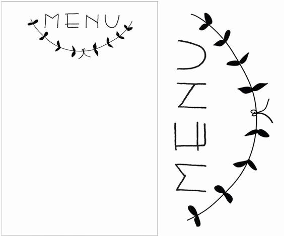 Free Printable Menu Card Templates Beautiful Menu Card Printable Free Menu Entertaining