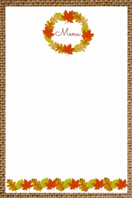 Free Printable Menu Card Templates Beautiful Printable Blank Menu Cards for Thanksgiving – Happy Easter