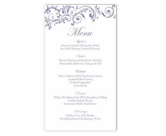 Free Printable Menu Card Templates Beautiful Wedding Menu Template Diy Menu Card Template Editable Text
