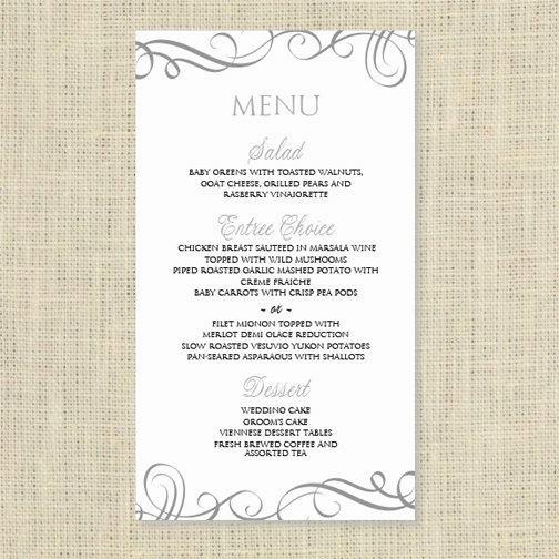 Free Printable Menu Card Templates Elegant Wedding Menu Card Template Download Instantly Edit