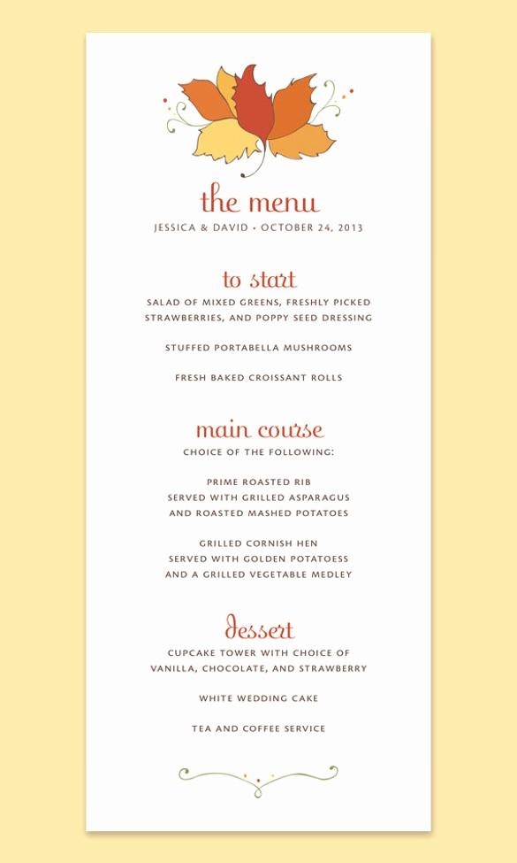 Free Printable Menu Card Templates Inspirational Printable Thanksgiving Menu Templates for Free – Happy
