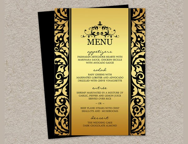 Free Printable Menu Card Templates Lovely Dinner Party Menu Template 16 Download Documents In Psd