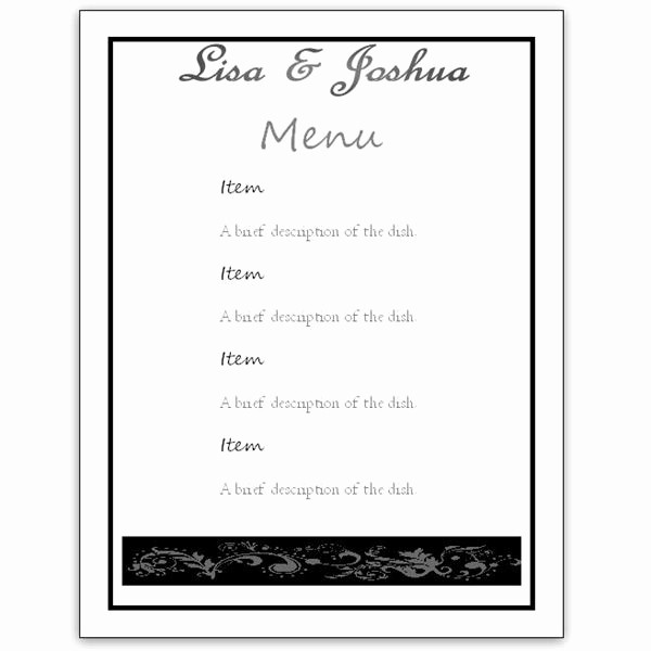 Free Printable Menu Card Templates Lovely Download A Free Wedding Menu Card Template Diy and Save