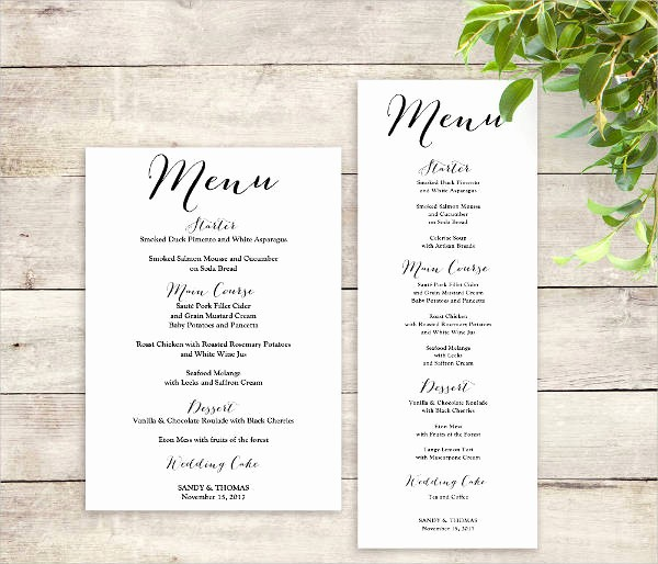 Free Printable Menu Card Templates Unique Free Menu Templates