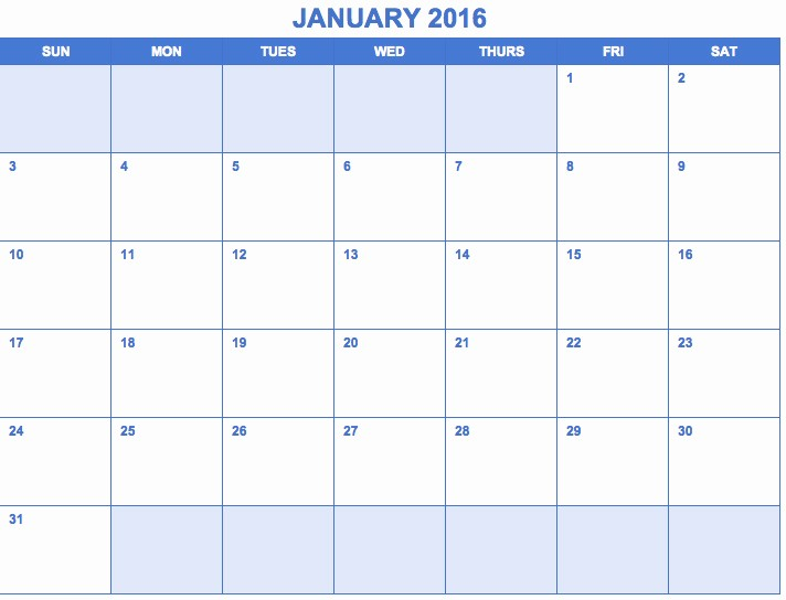 Free Printable Monthly 2016 Calendars Awesome Free Printable Month Calendar 2016 Monthly