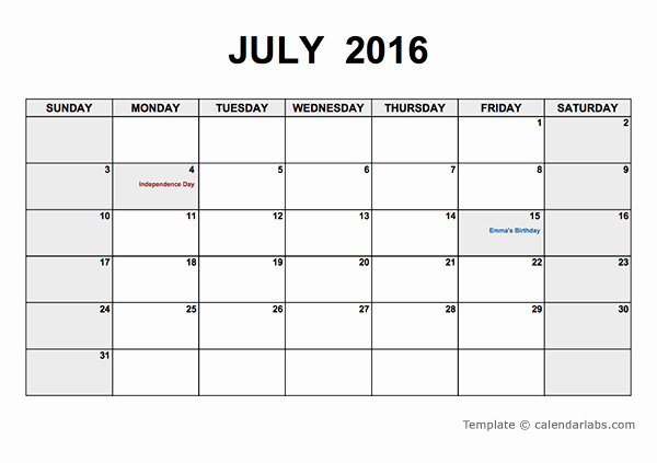 Free Printable Monthly 2016 Calendars Best Of 2016 Monthly Calendar Pdf Free Printable Templates