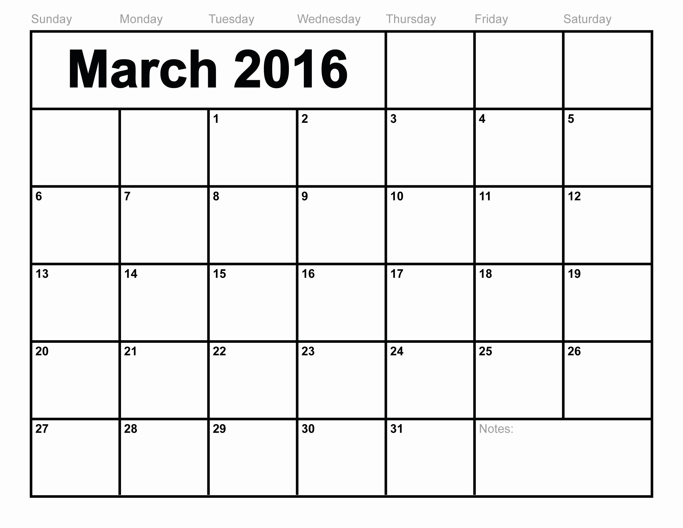 Free Printable Monthly 2016 Calendars Best Of March 2016 Calendar Printable Free Blank Calendar 2016