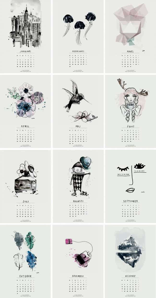 Free Printable Monthly 2016 Calendars Elegant 20 Free Printable Calendars for 2016