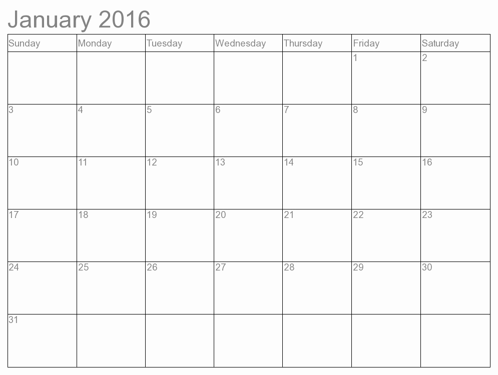 Free Printable Monthly 2016 Calendars Inspirational 7 Best Of Month Calendar 2016 Printable Free