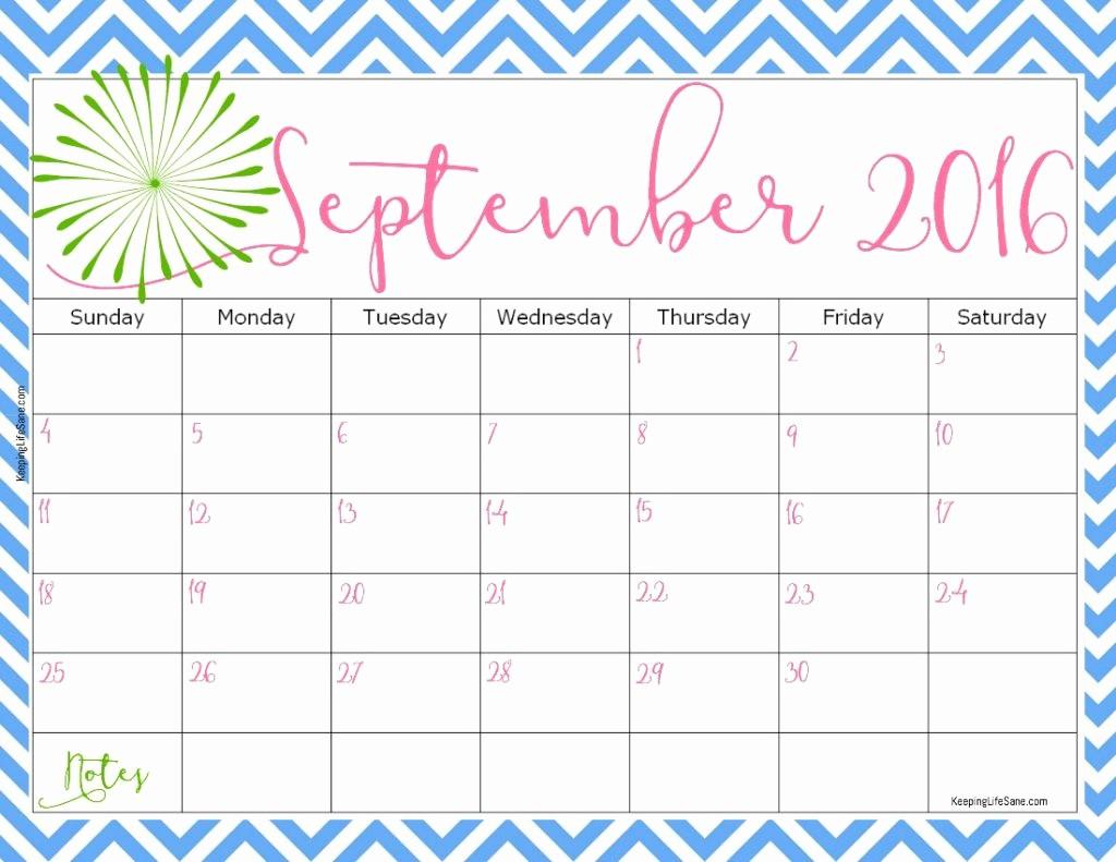 Free Printable Monthly 2016 Calendars New 2016 Free Printable Calendar Keeping Life Sane