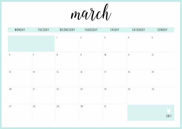Free Printable Monthly 2017 Calendar Awesome Free Printable Irma 2017 Monthly Calendars & Planners