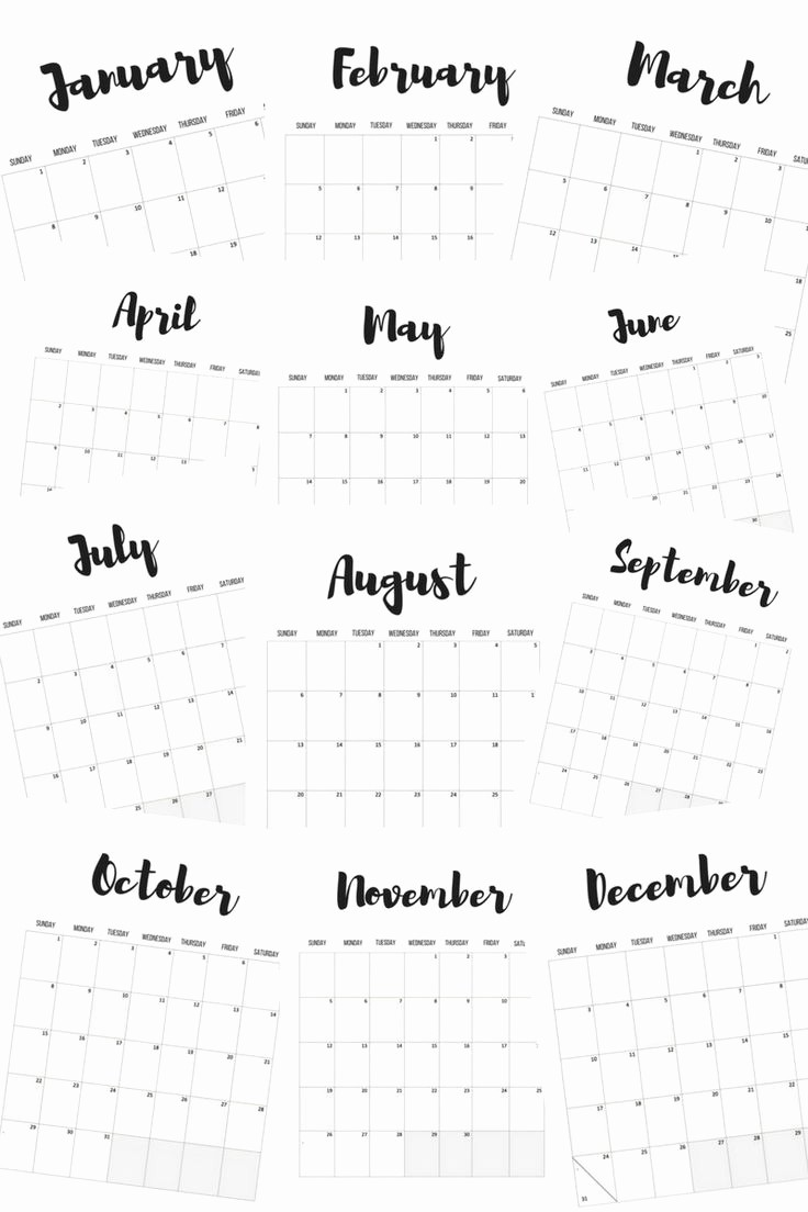 Free Printable Monthly 2017 Calendar Inspirational Best 25 Printable Monthly Calendar Ideas On Pinterest
