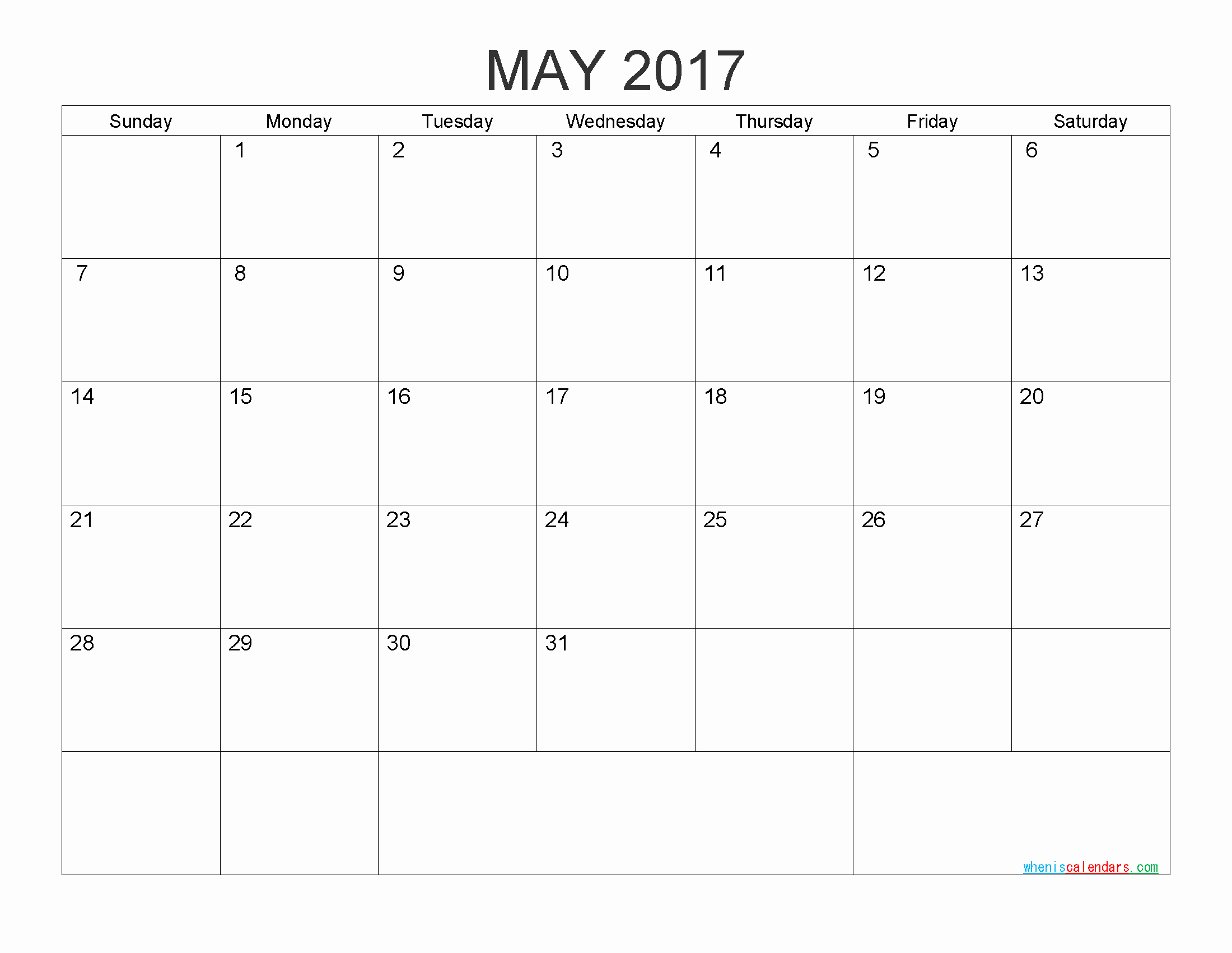 Free Printable Monthly 2017 Calendar Lovely Free Printable Calendar 2017 Monthly Calendar by Pdf