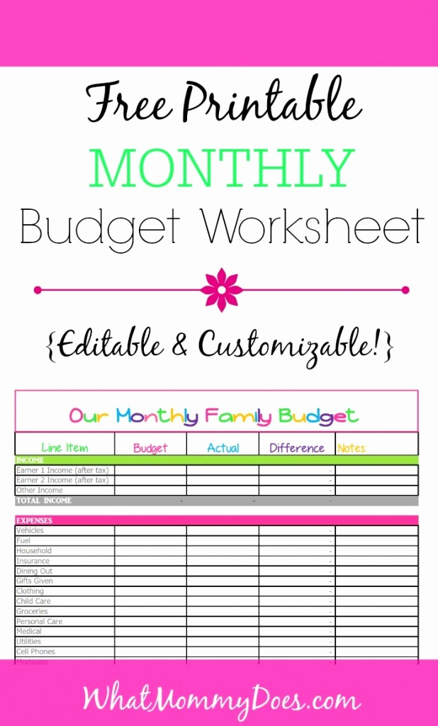 Free Printable Monthly Budget Template Inspirational Free Monthly Bud Template Cute Design In Excel