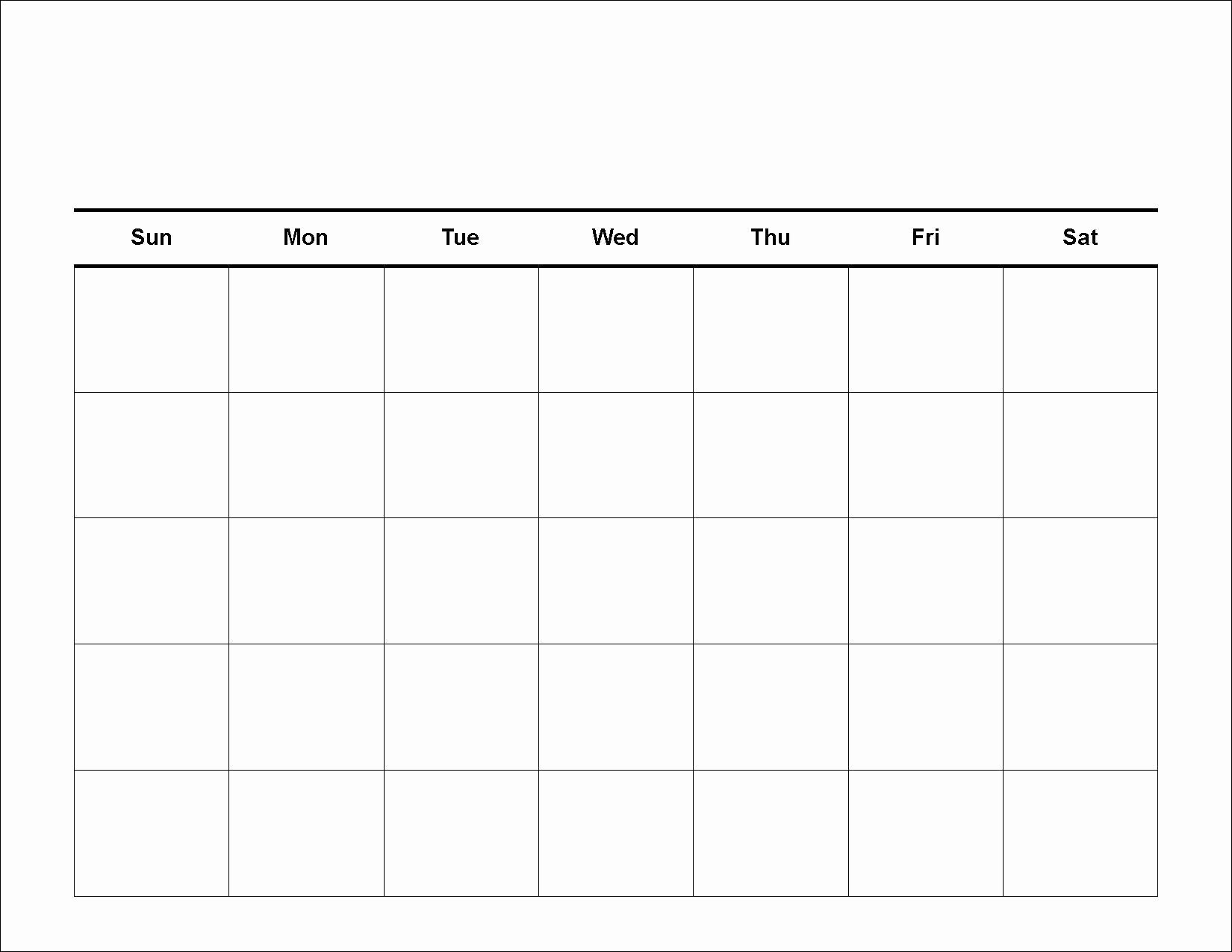 Free Printable Monthly Calendar Templates Best Of 4 Weekly Calendar