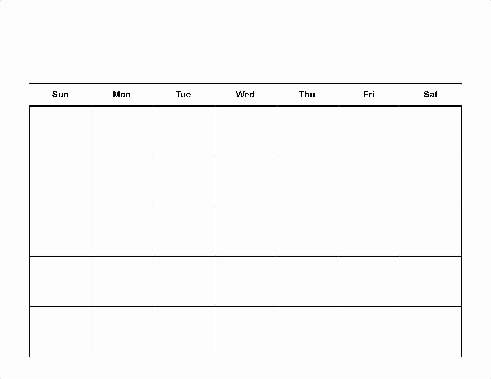Free Printable Monthly Calendar Templates Best Of 4 Weekly Calendar