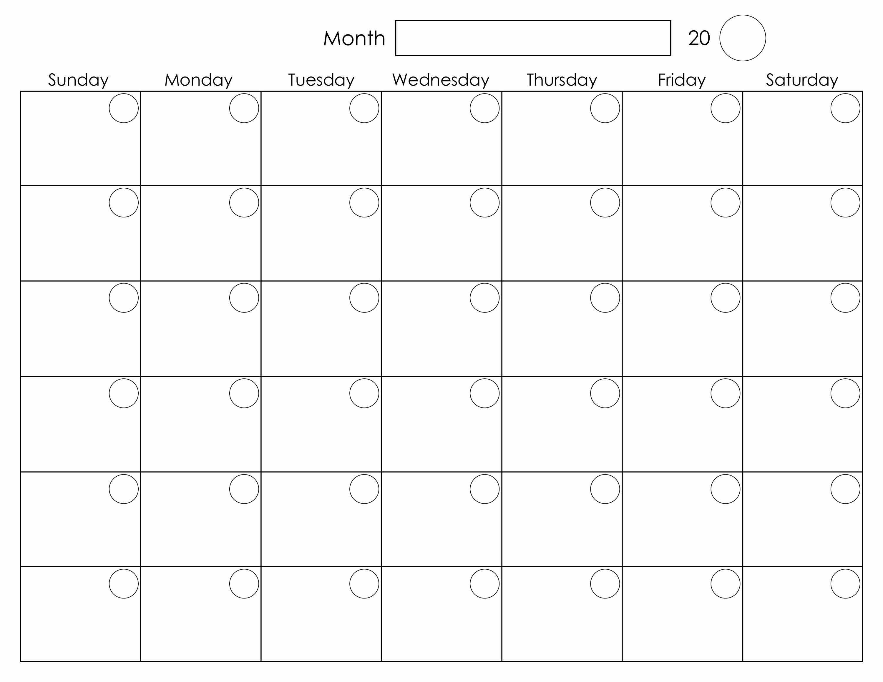 Free Printable Monthly Calendar Templates Fresh Printable Blank Monthly Calendar