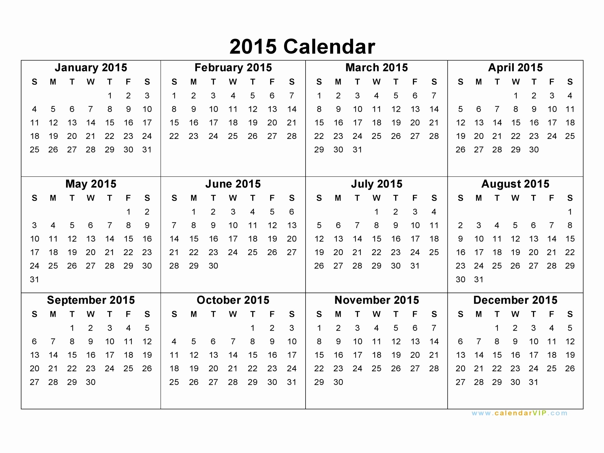 Free Printable Monthly Calendar Templates Lovely 2015 Calendar Template Beepmunk