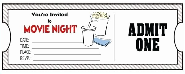 Free Printable Movie Tickets Template Beautiful Free Printable Movie Ticket Template Picture – Movie