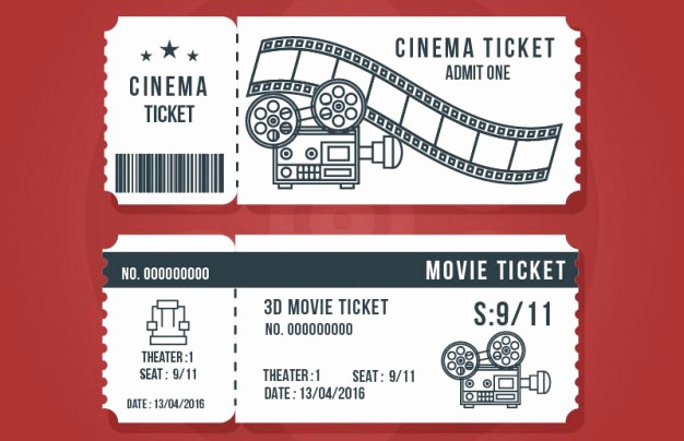 Free Printable Movie Tickets Template Best Of 16 Free Ticket Design Templates for Download Designyep