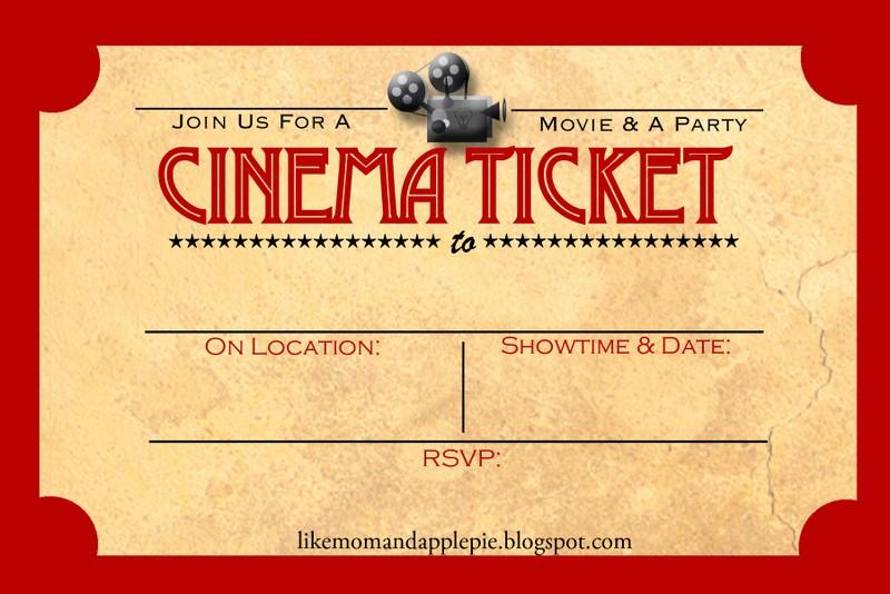 Free Printable Movie Tickets Template Fresh Favorite Movie Night Party Ideas Decor to Adore