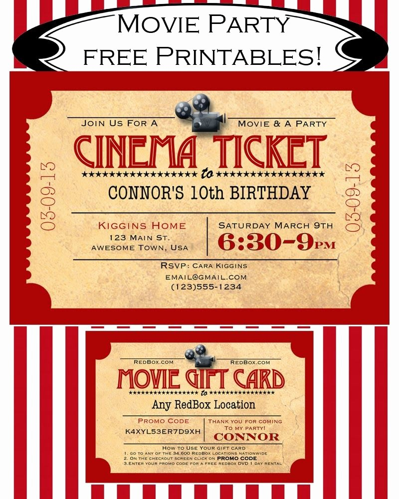 Free Printable Movie Tickets Template Fresh Like Mom and Apple Pie A Summer Movies Free