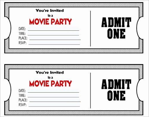 Free Printable Movie Tickets Template Inspirational 36 Printable Movie Ticket Templates Free Psd Pdf Excel