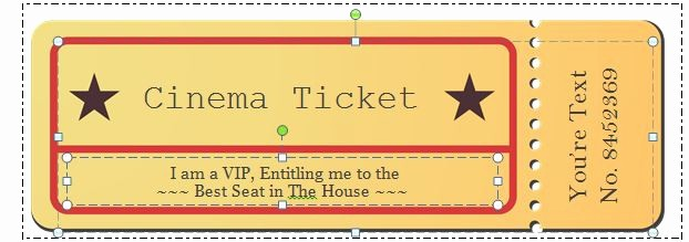 Free Printable Movie Tickets Template Luxury 40 Free Editable Raffle & Movie Ticket Templates