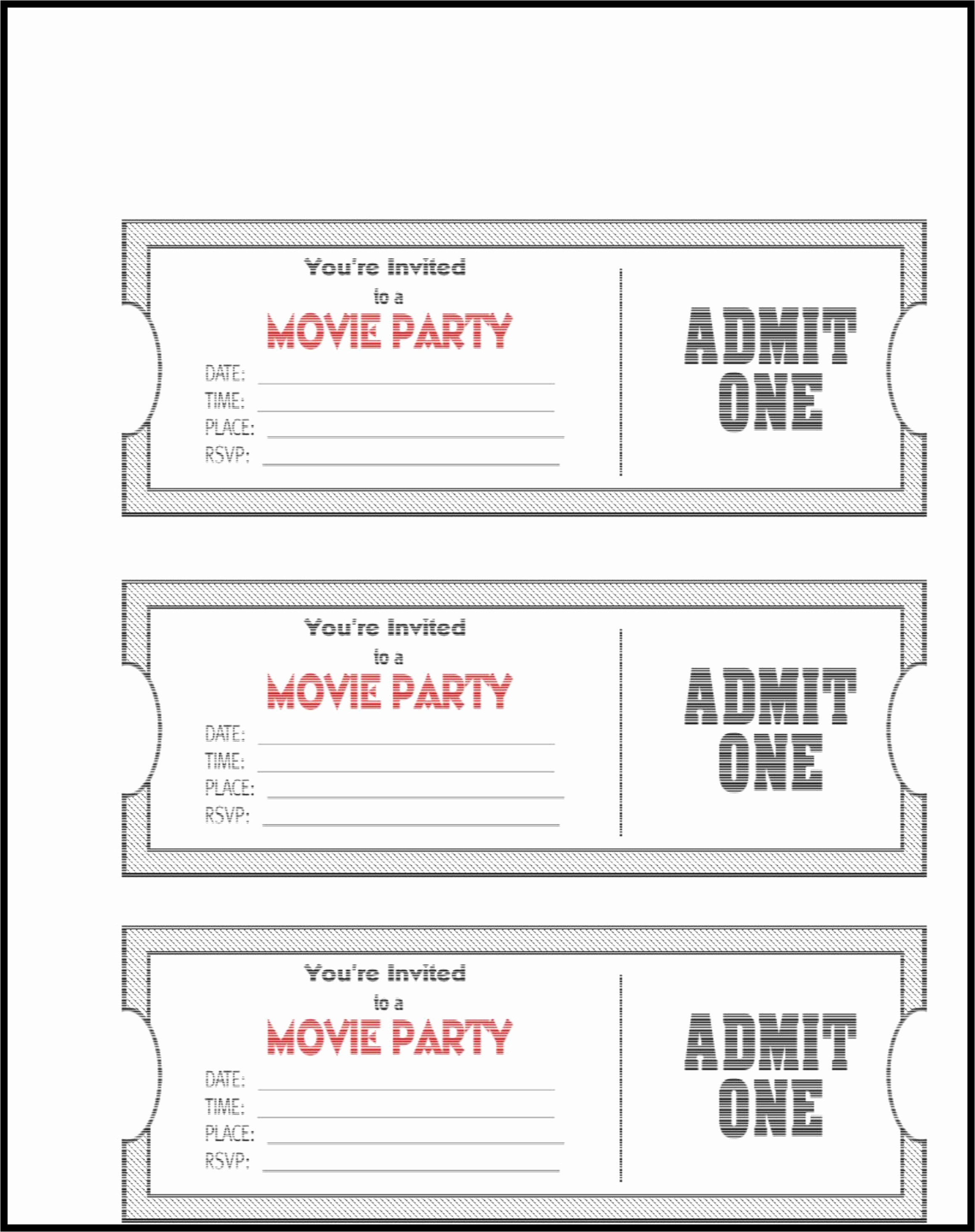 Free Printable Movie Tickets Template Luxury Admit E Ticket Template Example Mughals