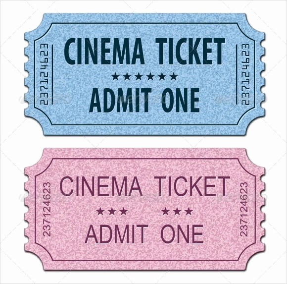 Free Printable Movie Tickets Template New 11 Sample Amazing Movie Ticket Templates to Download