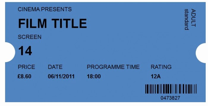 Free Printable Movie Tickets Template New 40 Free Editable Raffle & Movie Ticket Templates