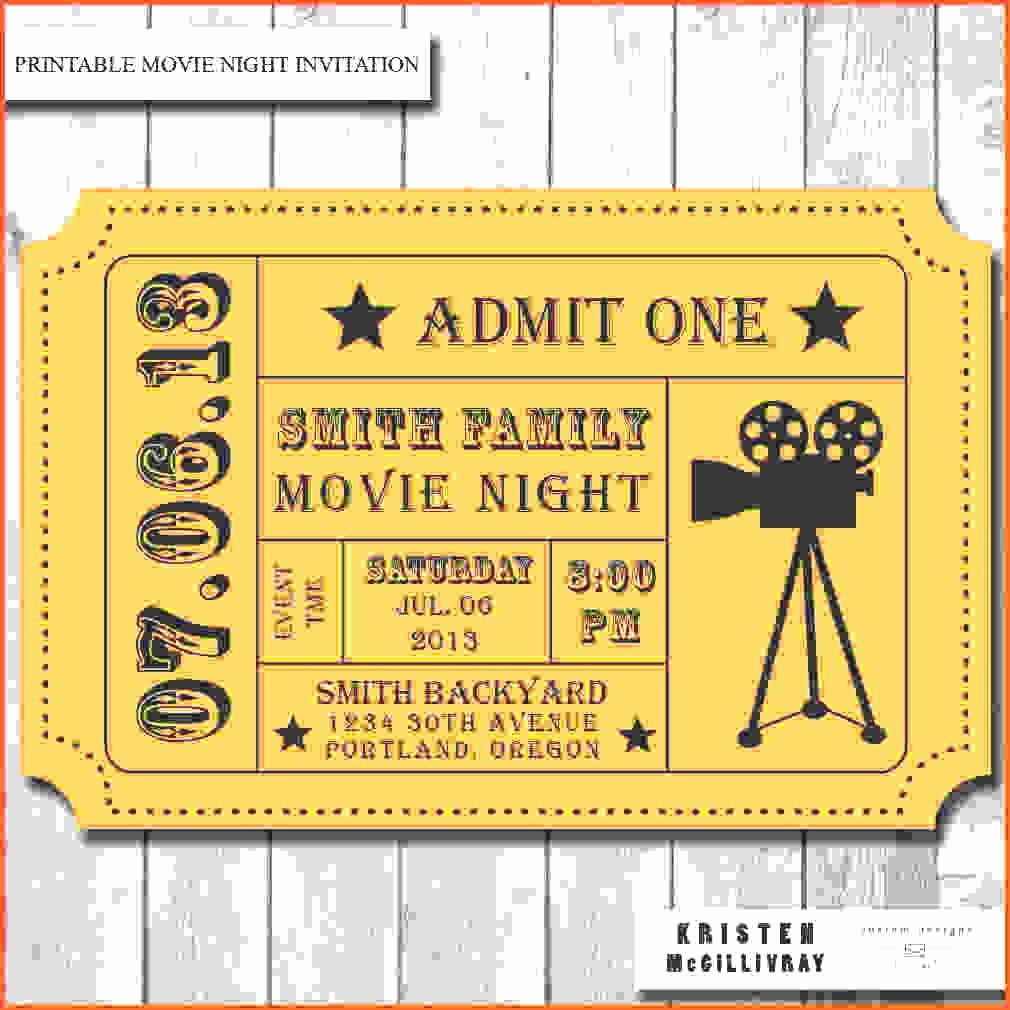 Free Printable Movie Tickets Template New Admission Ticket Template Example Mughals