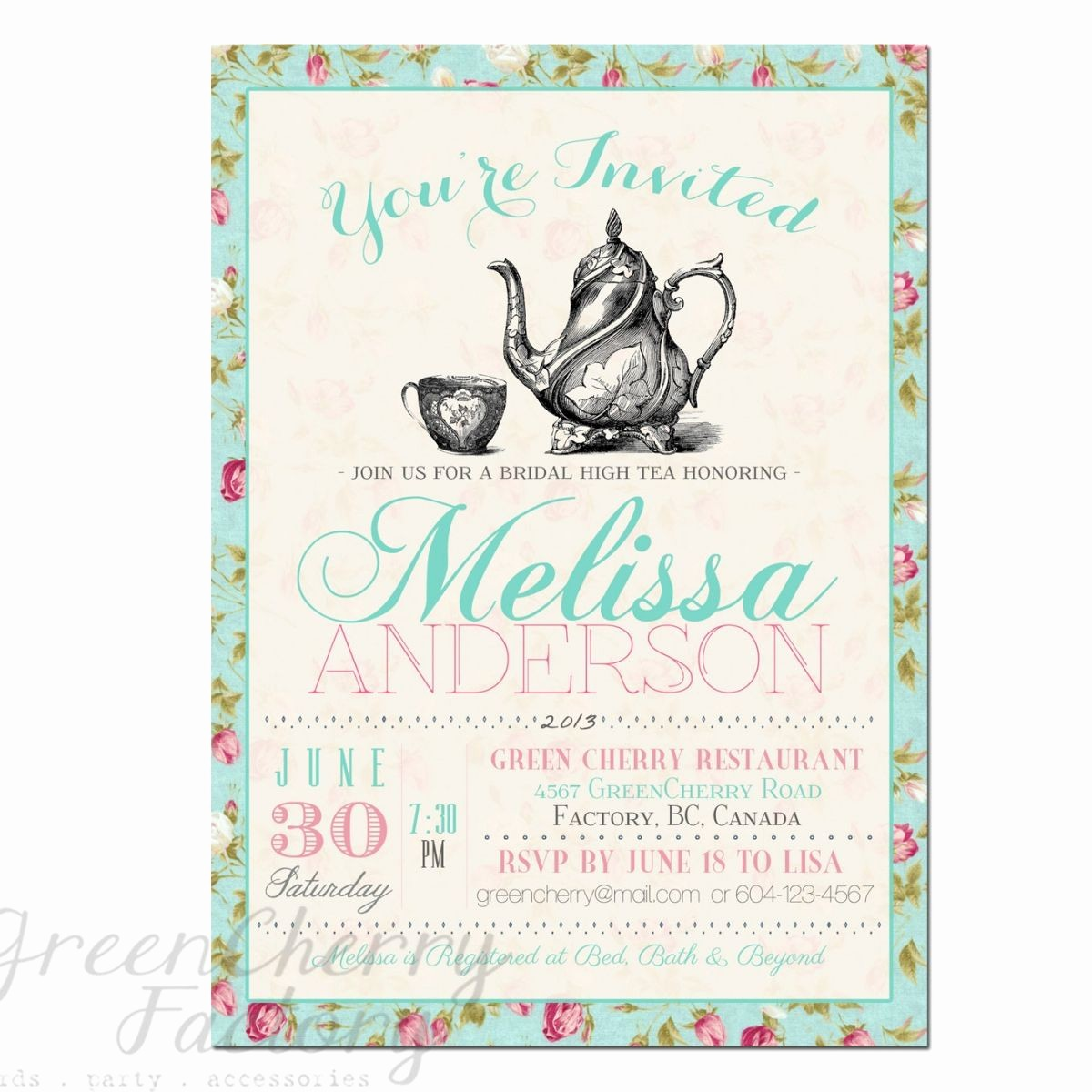 Free Printable Party Invitations Templates Awesome Tea Party Invitation Templates to Print