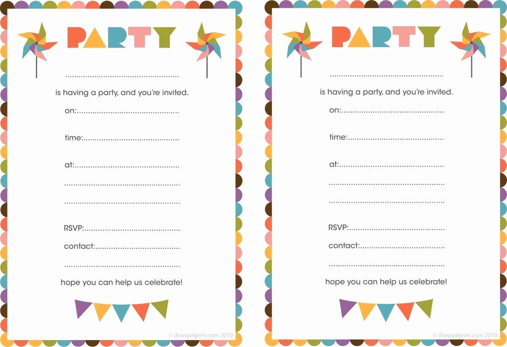 Free Printable Party Invitations Templates Beautiful Blank Birthday Invitations for Boys