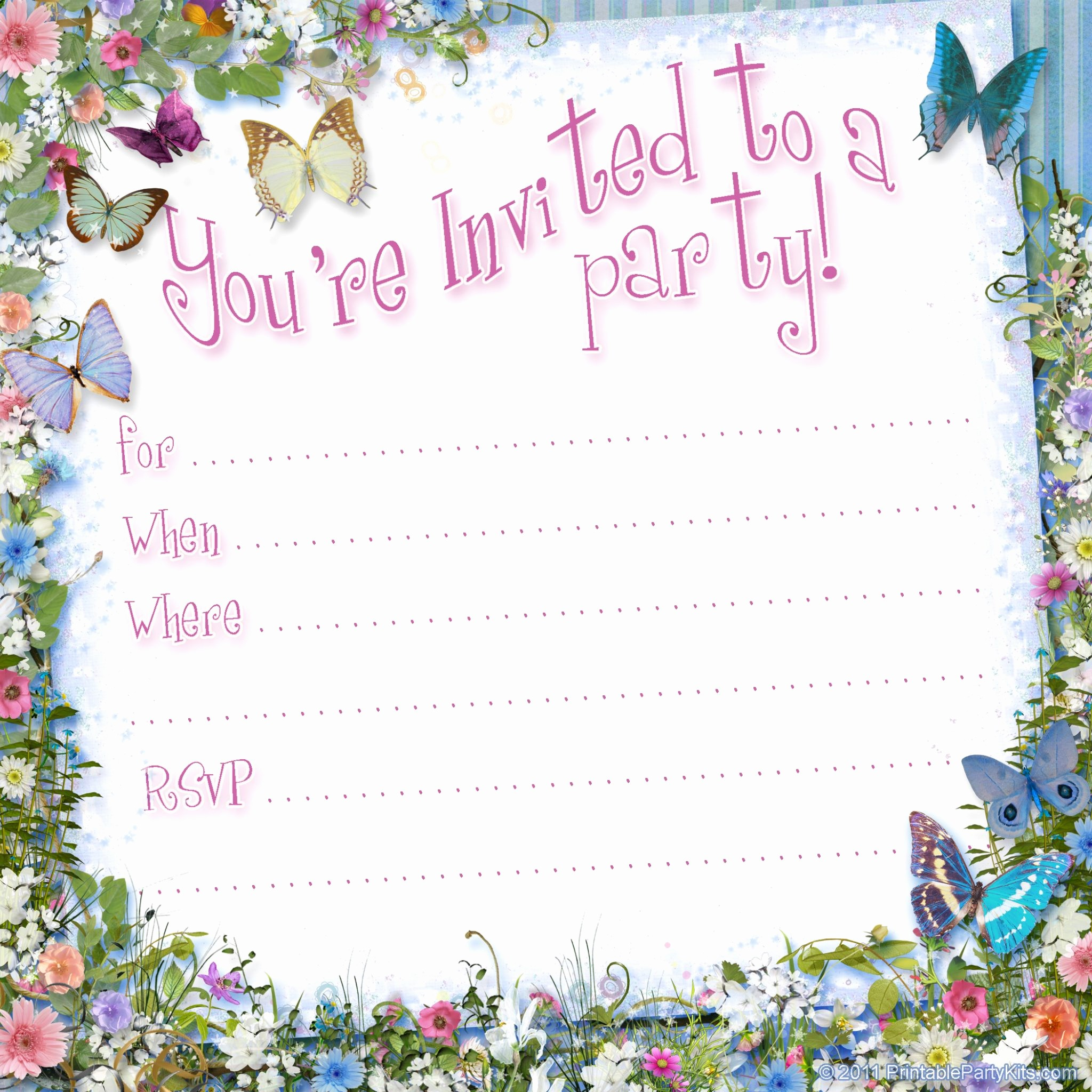 Free Printable Party Invitations Templates Best Of Free Printable Invitations On Pinterest