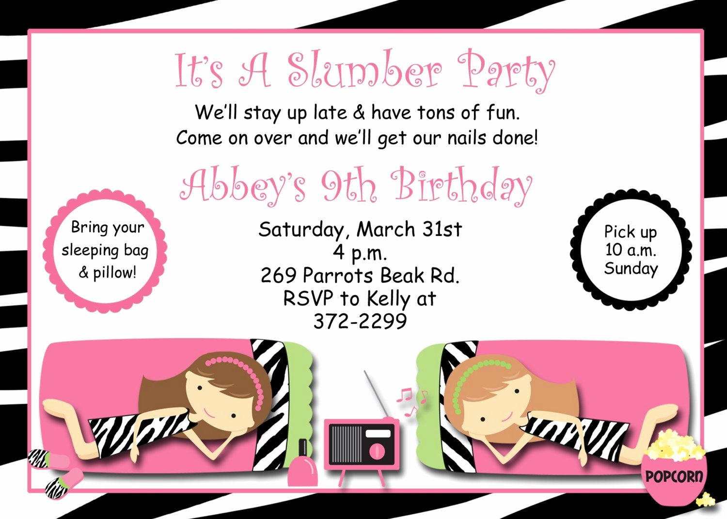 Free Printable Party Invitations Templates Fresh Free Printable Slumber Party Invitations Templates