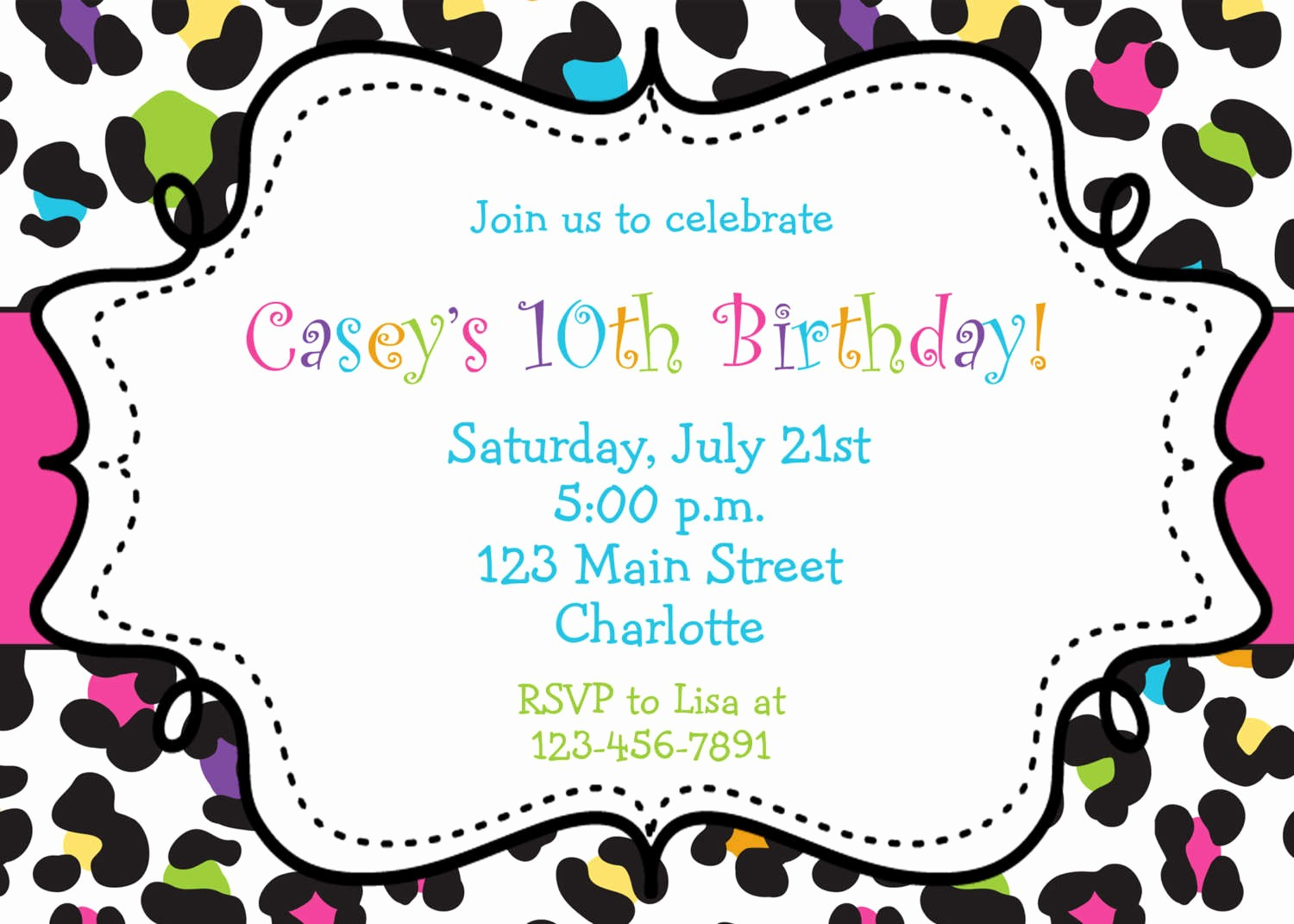 Free Printable Party Invitations Templates Inspirational Birthday Invitations Browsing Exclusive Animal Print themed