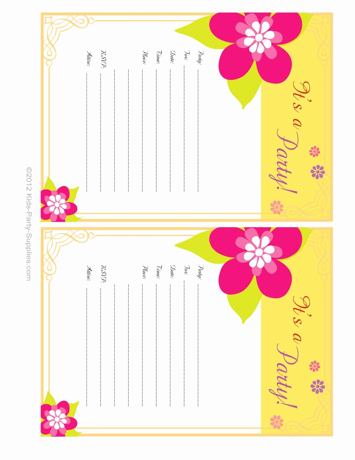 Free Printable Party Invitations Templates Lovely Free Printable Party Invitations Templates