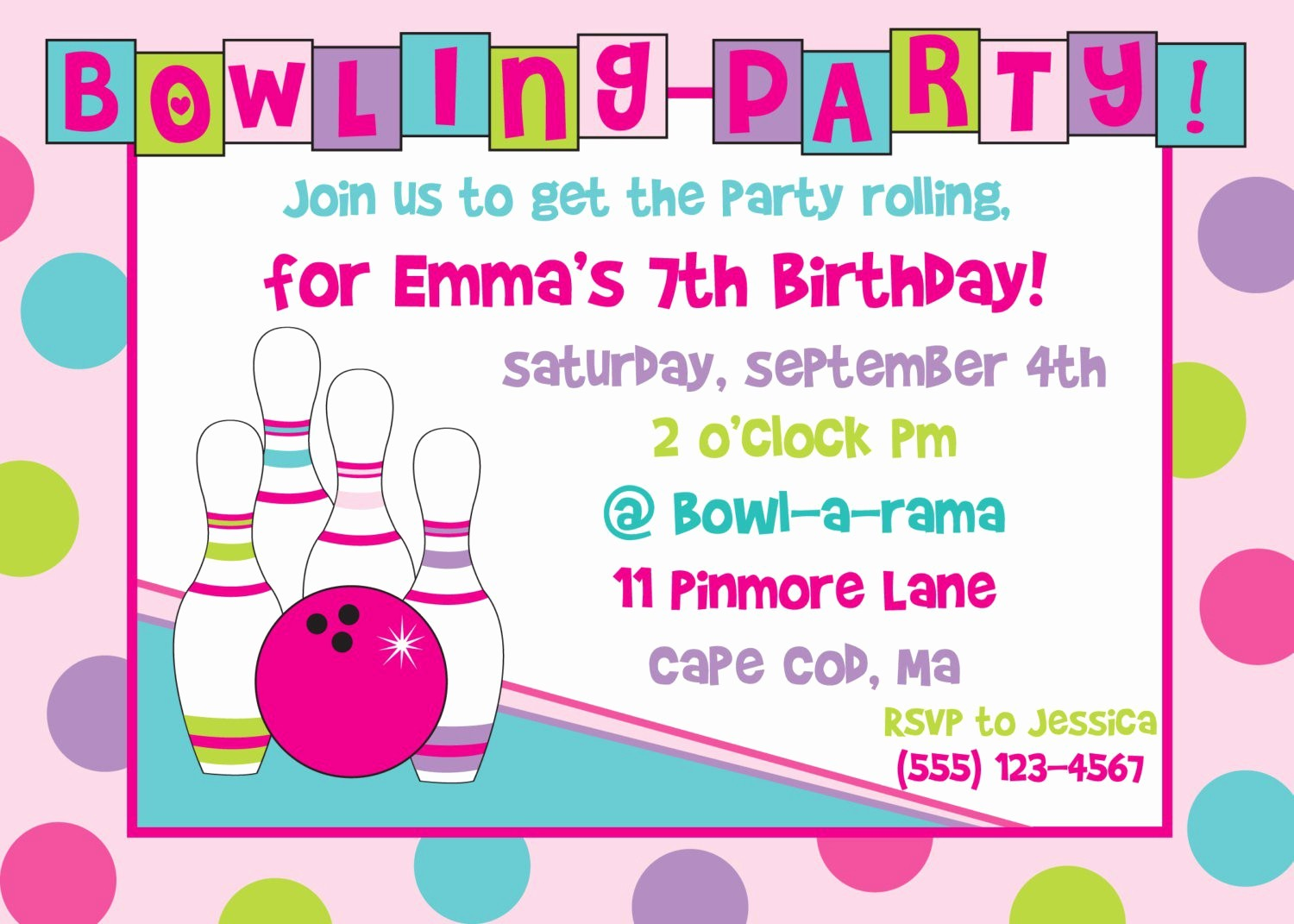 Free Printable Party Invitations Templates Unique Bowling Birthday Party Invitations Free Templates