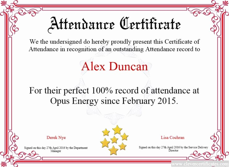 Free Printable Perfect attendance Certificates Awesome 14 Best Small Business Images On Pinterest