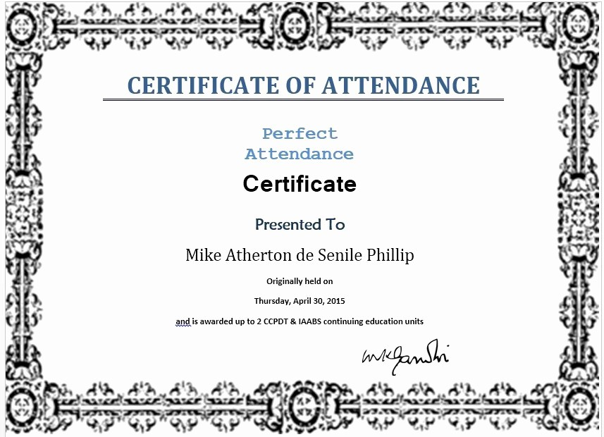 Free Printable Perfect attendance Certificates Best Of 13 Free Sample Perfect attendance Certificate Templates